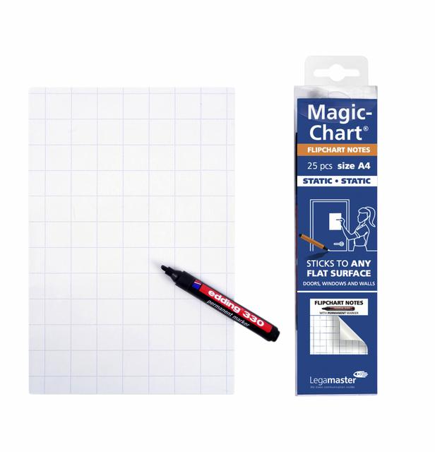 MAGIC-CHART NOTES LEGAMASTER FLIPCHART 20X30CM WIT